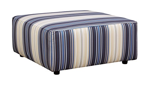 Benchcraft – Ayanna Nuvella Contemporary Oversized Accent Ottoman – Indigo Review