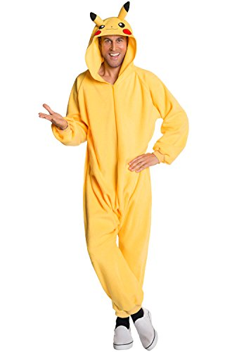 Rubie's Costume Men's Pokemon Pikachu Jumpsuit Costume, As Shown, X-Large