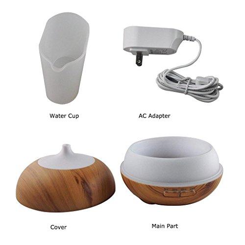 miaomiao Wood Grain Humidifier Office Household Desktop Ultrasound Atomization Diffusion Humidifier 16.816.5cm, b by miaomiao (Image #6)