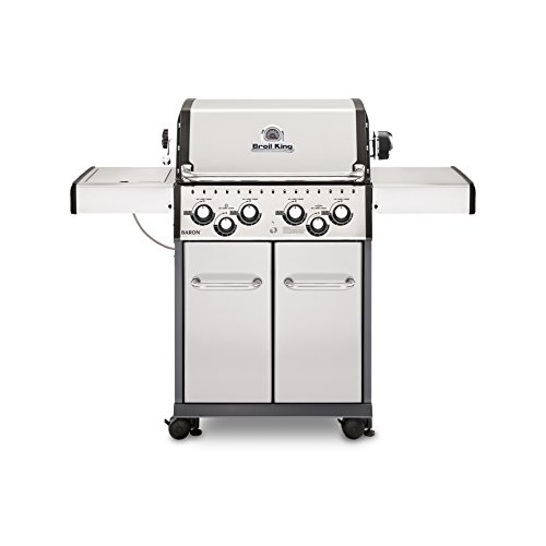 - Broil King 922587 Baron S490 Gas Grill, 4-Burner, Stainless Steel