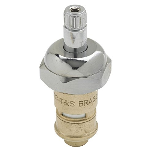 T&S Brass Cold Cerama Cartridge With Check Valve and Bonnet - 1'' Dia x 3'' H by T & S BRASS & BRONZE WORKS