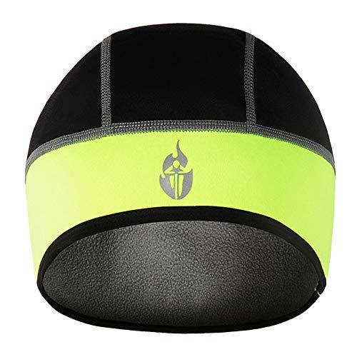 UHEREBUY Helmet Liner - Running Beanie Cap/Thermal Hat/Winter Skull Cap - Cold Weather Motorcycle Chemo Cap (Green)