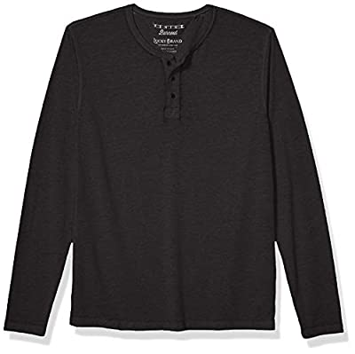 Lucky Brand Men's Venice Burnout Henley Shirt