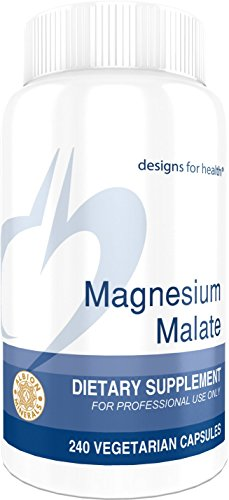 Designs for Health Magnesium Malate - 360 Milligrams Magnesium for Energy + Muscle Support (240 Capsules)