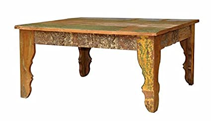 18u0026quot; Long Coffee Table Solid Rustic Design Reclaimed Wood Restaurant  Furniture