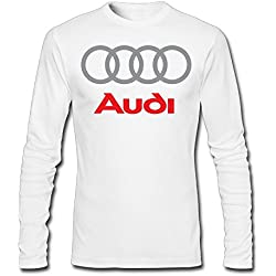 Men's Audi Logo Long Sleeve T-shirt White