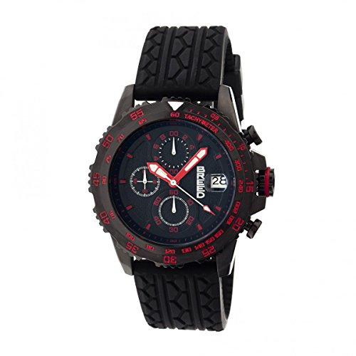 Breed Socrates Chronograph Men's Watch w/Date - Black/Red (Breed Band Watch)