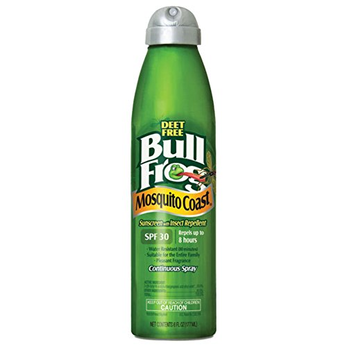 Bull Frog Mosquito Coast Spray Sunscreen with Insect Repellent, 6 Ounce (Bullfrog Sunscreen Bug Spray)