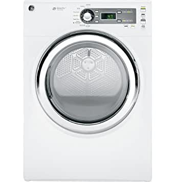 GE GFDS150GDWW 7.5 Cu. Ft. White Stackable With Steam Cycle Gas Front Load Dryer
