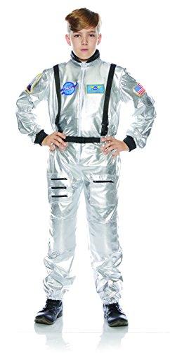 Underwraps Kid's Children's Astronaut Jumpsuit Costume - Silver Childrens Costume, Silver, Large ()