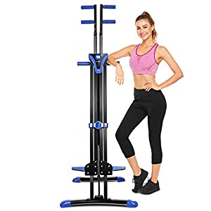 Aceshin Foldable Vertical Climbing Machine Stair Climber Stepper Home Body Workout Exercise Fitness
