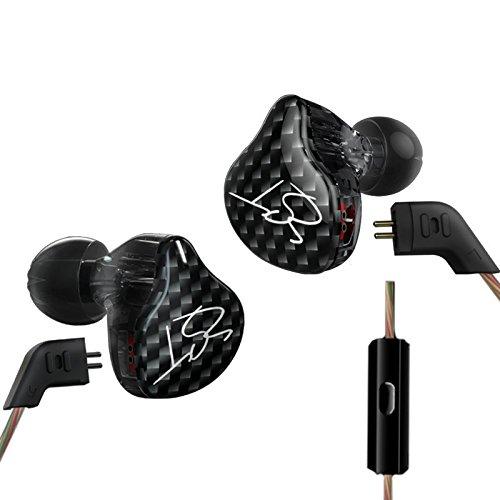 KZ ZST Dynamic Hybrid Dual Driver in Ear Earphones (Black with Mic)