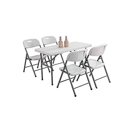 LM-Distribution - Conjunto - Mesa plegable + 4 sillas ...