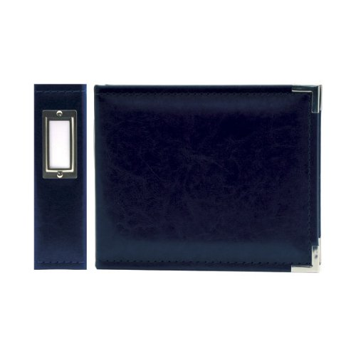 We R Memory Keepers 40395-1 Classic Leather 3-Ring Binder Album, 6 by 6'', Navy