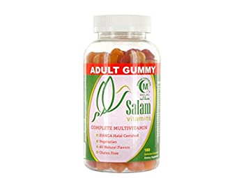 Salam Vitamins, Adult Halal & Vegetarian Gummy Vitamins, 180 count