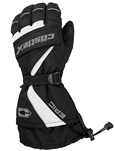 Castle X Epic-G1 Mens Snowmobile Gloves - White - - Windproof Epic Gloves