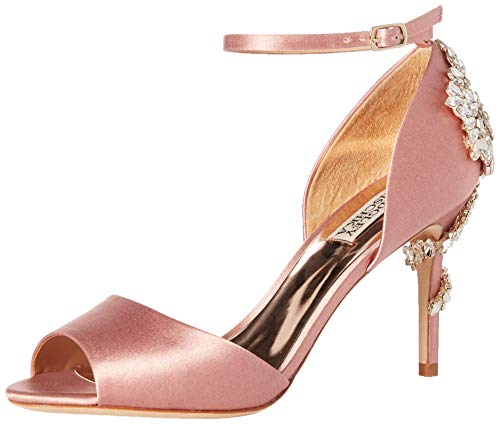 Badgley Mischka Women's Vienna Heeled Sandal, Pink Rose, 8.5 M US