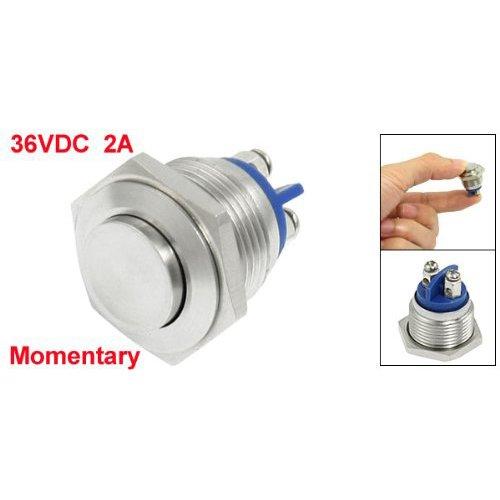 16mm alto redondo Interruptor de boton pulsador de metal momentaneo redondo alto R SODIAL