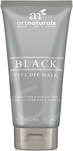 Art Naturals Blackhead, Acne & Pimple Removal Peel Off Face Mask 2.4oz -Best Black Head Remover, Purifying Deep Cleanser & Black Mud Mask – Reduce / Minimize Pore Size & Redness -For Acne Prone Skin