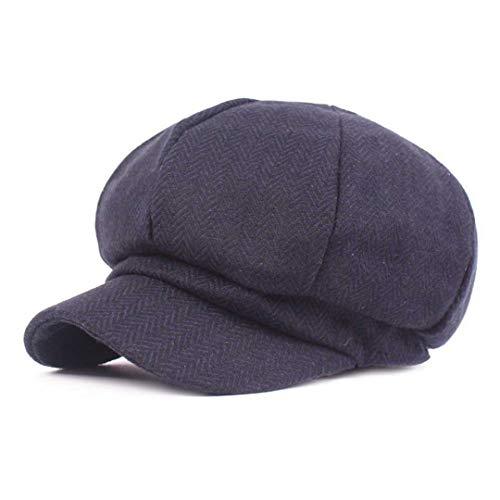 Mens Vintage Newsboy Hat Casual Driving Golf Flat Cap Sun Beach Hat Breathable Sun Visors