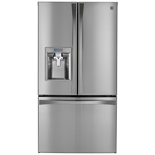 Kenmore Elite 73153 28.7 cu. ft. French Door Bottom-Mount Refrigerator in Stainless Steel, includes delivery and hookup - Door Bottom Mount Refrigerator
