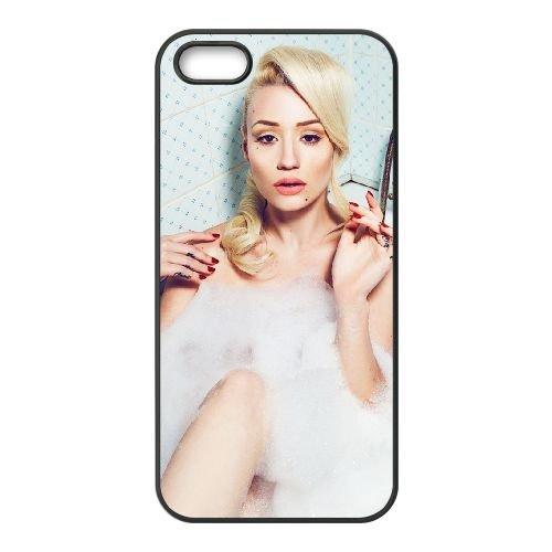 Iggy Azalea 010 coque iPhone 4 4S cellulaire cas coque de téléphone cas téléphone cellulaire noir couvercle EEEXLKNBC25893