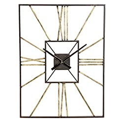 Aspire Lex Mid Century Wall Clock, Gray