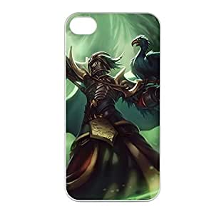 Swain-002 League of Legends LoL case cover for Apple iPhone 4 / 4S - Plastic White