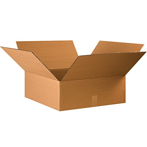 "Aviditi 22228 Single-Wall Corrugated Box, 22"" Length x 22"" Width x 8"" Height, Kraft (Bundle of 15) from Aviditi"