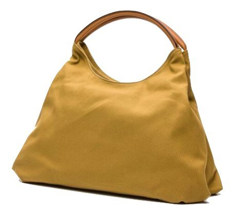 LUPO Arena Tierra Hobo Bag with Genuine Leather Trim, Mustard Yellow Ladies Shoulder Bag