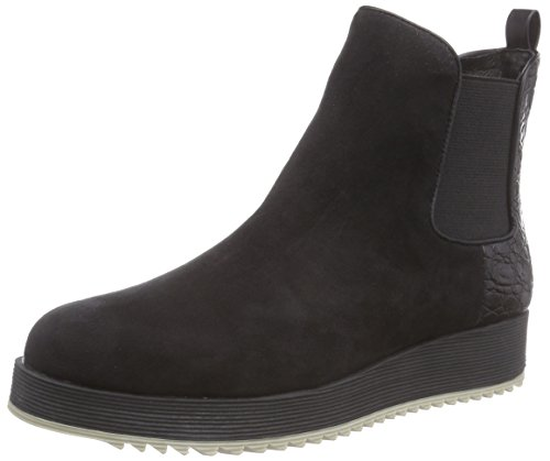 Schwarz Black Damen Strada Micro Schwarze Chelsea Suède Look Boots La 1501 wF0qfzx