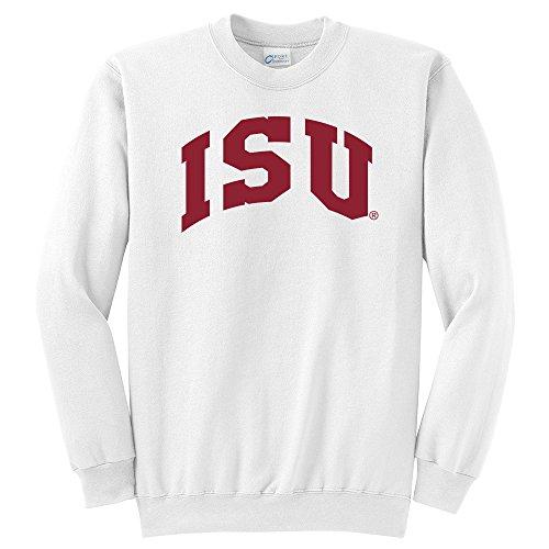 - Campus Merchandise NCAA Iowa State Cyclones University Arch Classic Crewneck Sweatshirt, Small, White