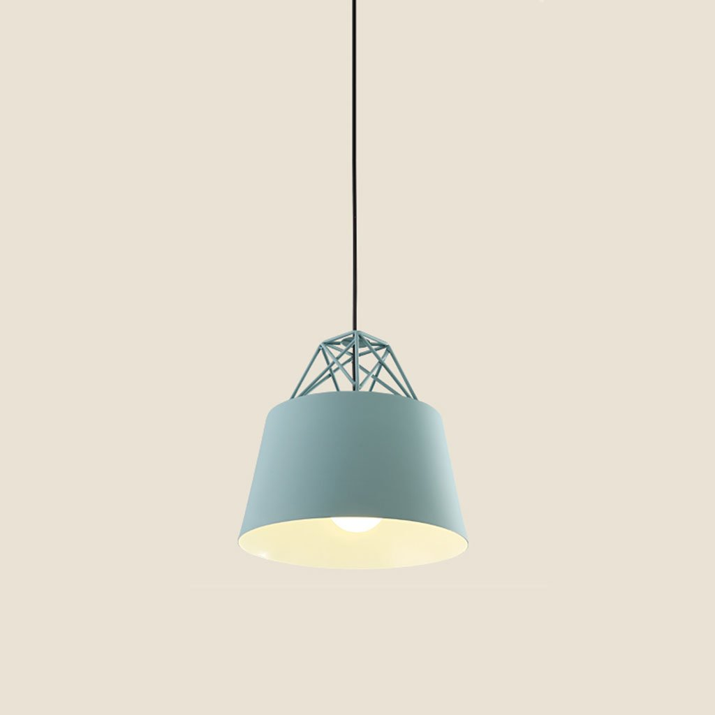 ZYANZ- Chandelier Simple European Chandeliers (E27 Lighting Interface) Bedroom Living Room Color Aluminum Creative Personality Iron Chandeliers ( Color : Gray-blue yellow )