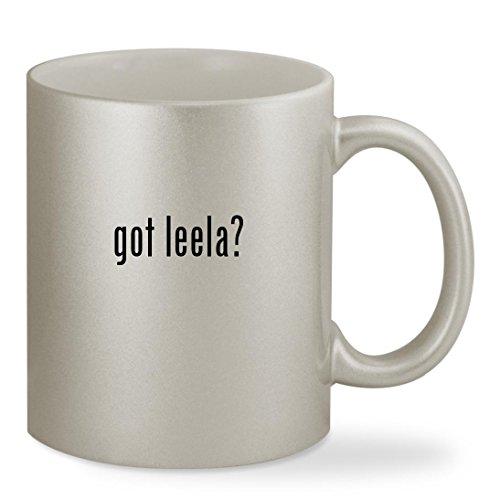 Leela Costume Eye (got leela? - 11oz Silver Sturdy Ceramic Coffee Cup Mug)