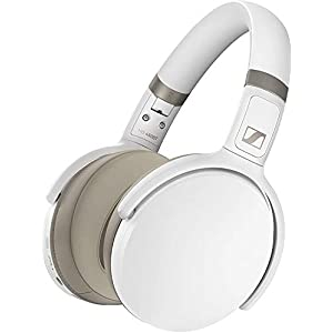 Sennheiser HD 450BT Over Ear Wireless Headphones, with Active Noise Cancellation, White