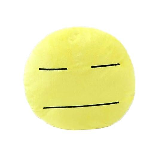 Gracioso Redondo Emoji Cojín Amarillo Almohada de Felpa ...