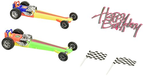 Oasis Supply Dragster Rail Cars Racing Cake Decorating Topper Kit ()