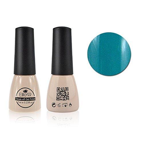 Qimisi Soak-Off UV LED Gel Polish Nail Art New Bling Colours Manicure Lacquer 7ml Aqua