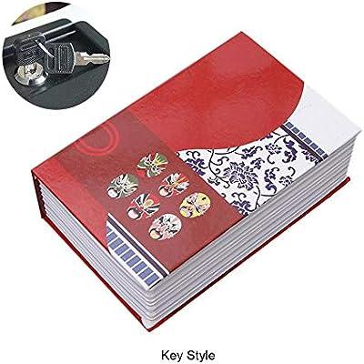 Lucky Family - Caja de Almacenamiento del Libro, Caja Fuerte del Libro Creativo, Cajas de Almacenamiento de encuadernación Decorativa, Caja de Libro con Cerradura de combinación: Amazon.es: Hogar