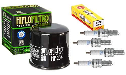Plug Chart Ngk (Oil Filter Spark Plug Tune Up Kit Kawasaki Ninja ZX6R ZX6RR ZZR600)