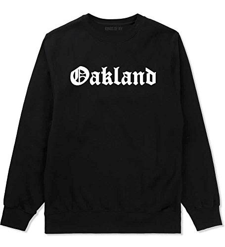 City Crewneck Sweatshirts - Kings Of NY Oakland City California Cali CA Crewneck Sweatshirt X-Large Black