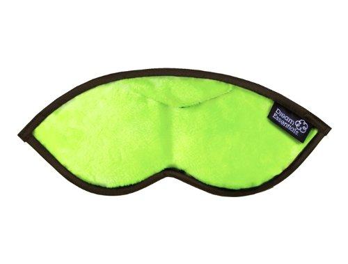 Dream Essentials Opulence Sleep Mask with Earplug Pocket and Earplugs, Plush Lime