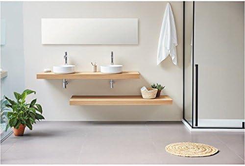 Plan vasque suspendu ZERO pour salle de bain design, chêne ...