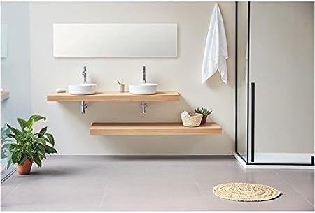 Plan Vasque Suspendu Zero Pour Salle De Bain Design Chene 140 Cm