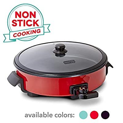 DASH DRG214RD 14 inch Family Electric Skillet Sized