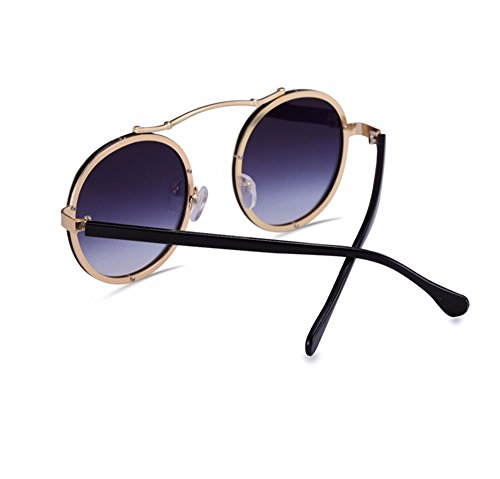 de nuevo bastidor Rosa gafas de El redondo sol Rosa sol big par Gafas mujer marea gafas de XIAOGEGE box RZxp5Eqwp