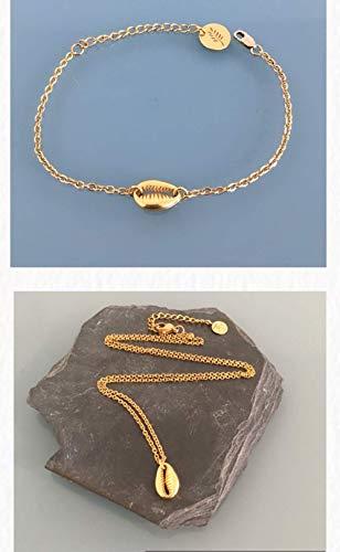 Parure bijoux coquillage, idée cadeau, bijou coquillage, idée cadeau femme, bijou  doré
