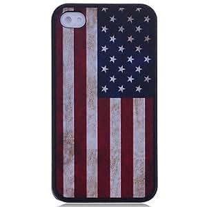 TY-Patrón de la bandera americana de nuevo caso para el iPhone 4/4S