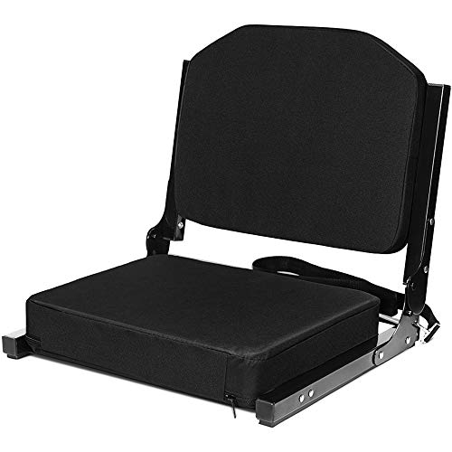Jauntis Stadium Seats for Bleachers - Bleacher Seats with Ultra-Padded Comfy Foam Backs and Cushion, Wide Portable Stadium Chairs with Back Support and Shoulder - Seat Padded