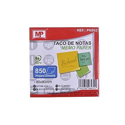 MP PN802 - Taco de notas, 850 hojas, 90 x 90 mm: Amazon.es ...